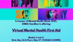 MHFA May 26 & 27, 2021 banner