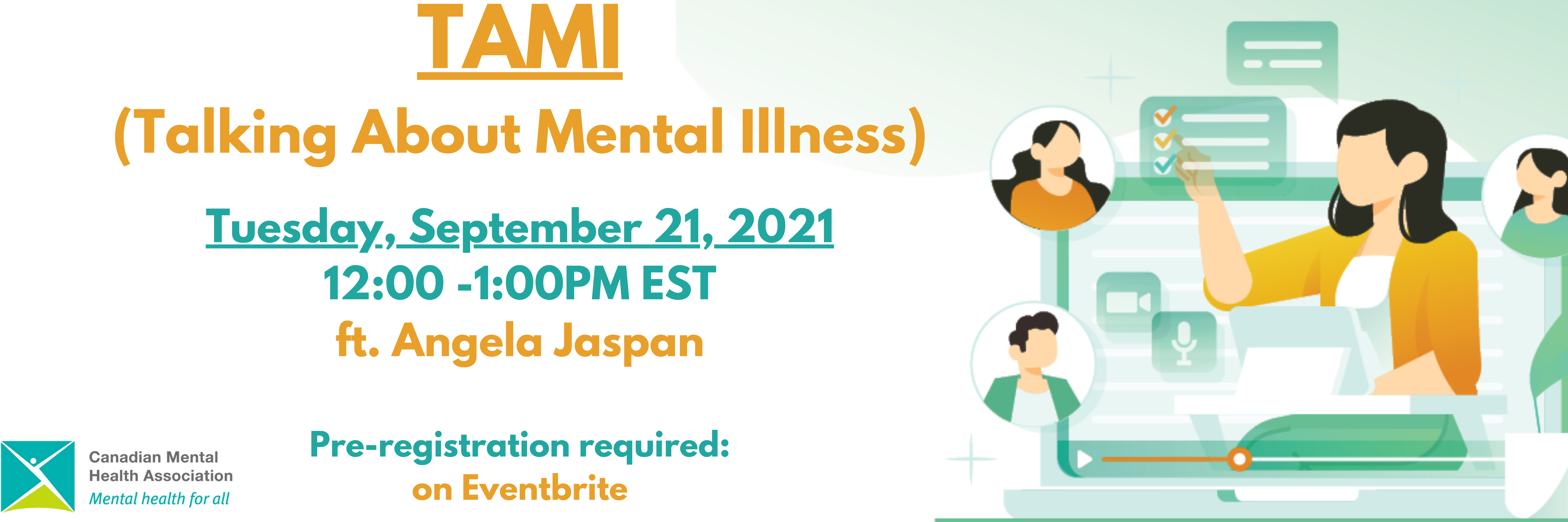 TAMI (Talking About Mental Illness) featuring Angela Jaspan