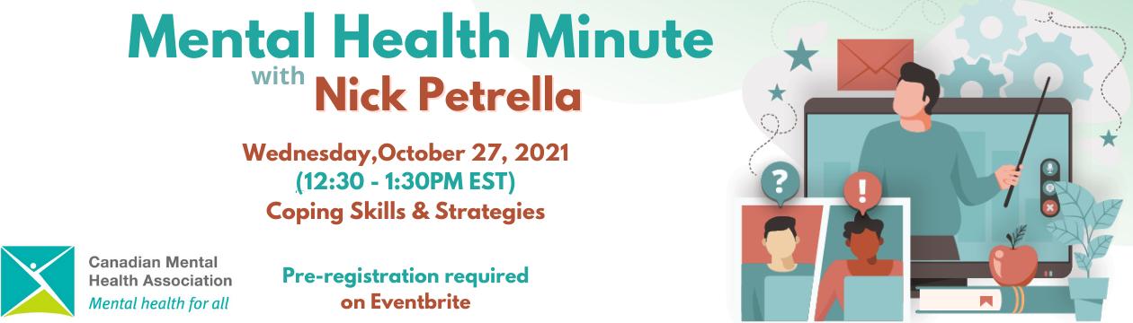 Mental Health Minute with Nick Petrella: Coping Skills & Strategies